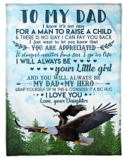 To My Dad - Eagle - Flee Blanket Fleece Blanket tile