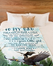 "To My Dad - Eagle - Flee Blanket Large Fleece Blanket - 60"" x 80"" aos-coral-fleece-blanket-60x80-lifestyle-front-02"