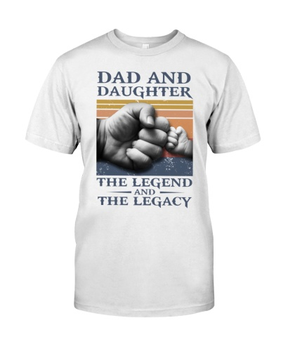 T-SHIRT - DAD AND DAUGHTER - VINTAGE