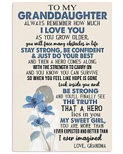 TO GRANDDAUGHTER - GIRL - SWEET GIRL 16x24 Poster front