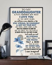 TO GRANDDAUGHTER - GIRL - SWEET GIRL 16x24 Poster lifestyle-poster-2