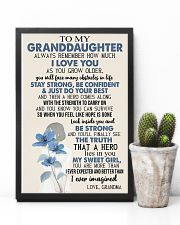 TO GRANDDAUGHTER - GIRL - SWEET GIRL 16x24 Poster lifestyle-poster-8