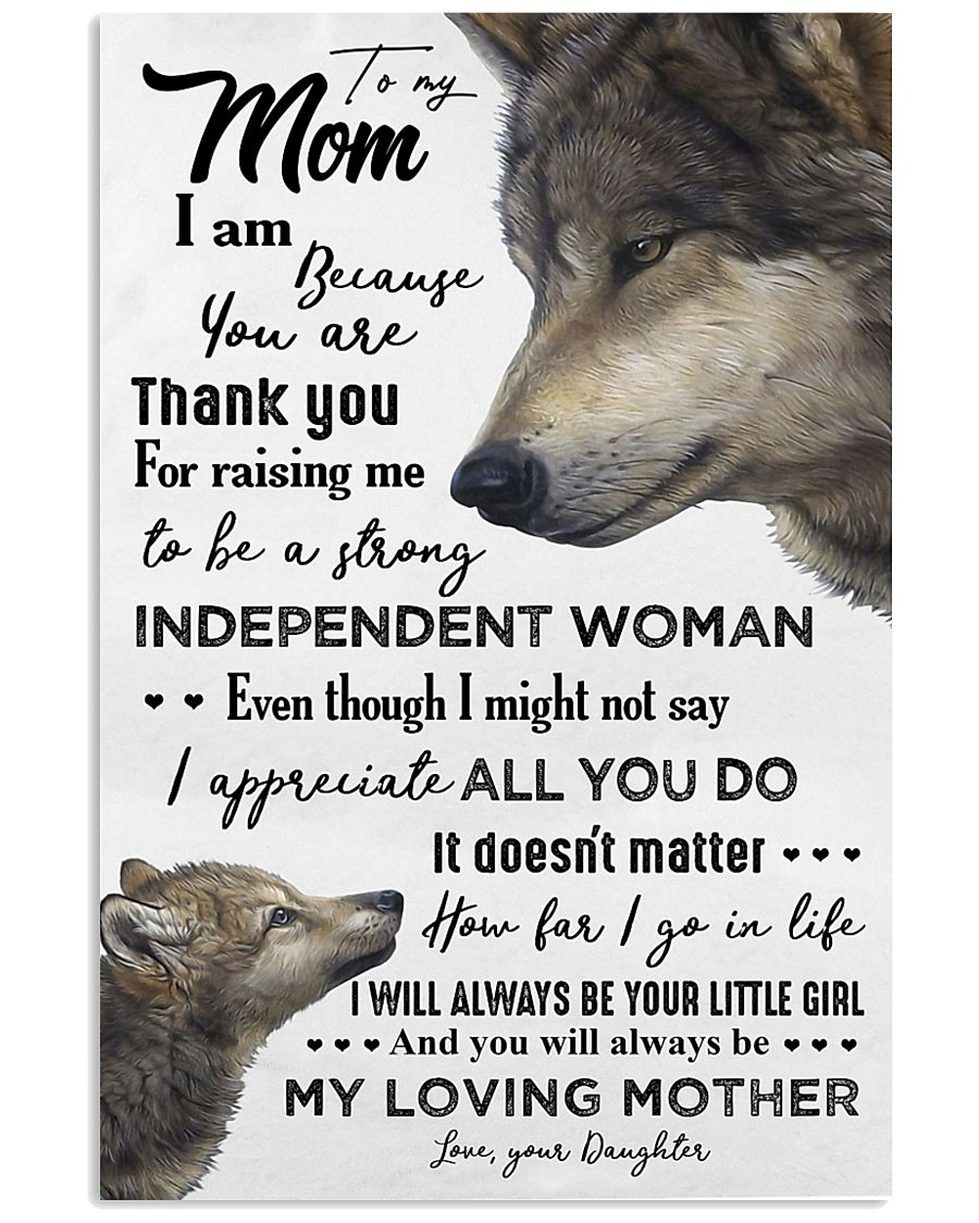 TO MY MOM - WOLF - THANK YOU 16x24 Poster