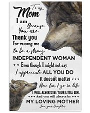 TO MY MOM - WOLF - THANK YOU 16x24 Poster front