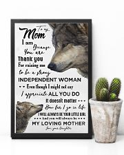 TO MY MOM - WOLF - THANK YOU 16x24 Poster lifestyle-poster-8