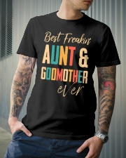 BEST FREAKING AUNTIE - GODMOTHER Classic T-Shirt lifestyle-mens-crewneck-front-6