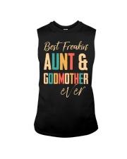BEST FREAKING AUNTIE - GODMOTHER Sleeveless Tee thumbnail