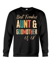 BEST FREAKING AUNTIE - GODMOTHER Crewneck Sweatshirt thumbnail
