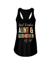 BEST FREAKING AUNTIE - GODMOTHER Ladies Flowy Tank thumbnail
