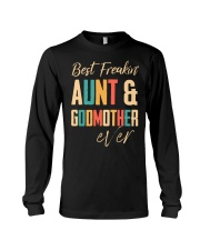 BEST FREAKING AUNTIE - GODMOTHER Long Sleeve Tee thumbnail