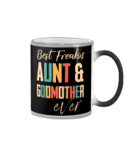 BEST FREAKING AUNTIE - GODMOTHER Color Changing Mug thumbnail
