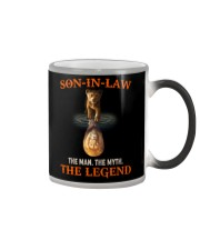 SON-IN-LAW - LION - THE MAN THE MYTH THE LEGEND Color Changing Mug thumbnail