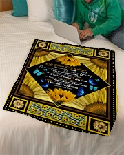 """FLEECE BLANKET - TO MY ANGEL MOM - SUNFLOWER Small Fleece Blanket - 30"""" x 40"""" aos-coral-fleece-blanket-30x40-lifestyle-front-07"""