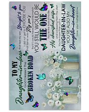 To My Daughter-in-law - Butterfly - The One  16x24 Poster front