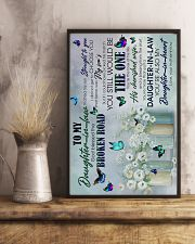 To My Daughter-in-law - Butterfly - The One  16x24 Poster lifestyle-poster-3