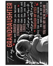 Grandma to Granddaughter - You Are My New Dream 16x24 Poster front