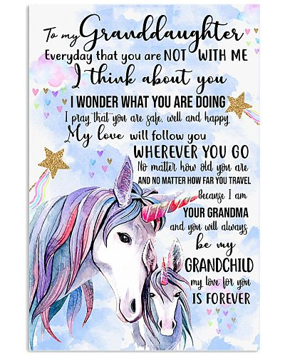 TO MY GRANDDAUGHTER - UNICORN - I LOVE YOU