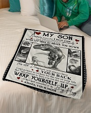 """Son - This Old Dinosaur Will Always  Small Fleece Blanket - 30"""" x 40"""" aos-coral-fleece-blanket-30x40-lifestyle-front-07"""