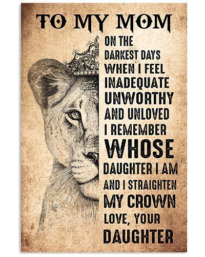 TO MY MOM - LION - ON THE DARKEST DAY