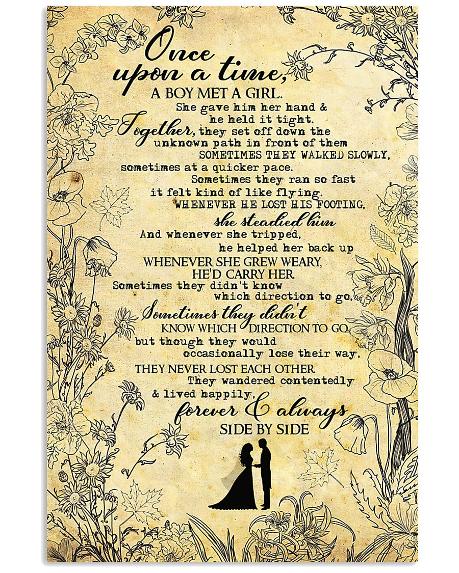To Husband - Once Upon A Time A Boy Met A girl  16x24 Poster