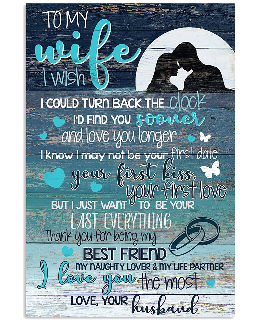 TO MY WIFE 16x24 Poster