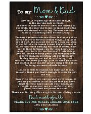 CHILDREN TO MOM AND DAD 16x24 Poster front