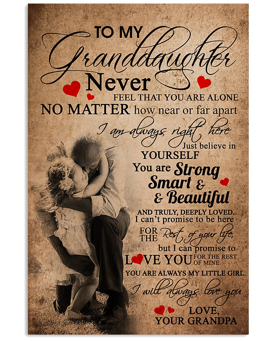 GRANDPA TO GRANDDAUGHTER 16x24 Poster