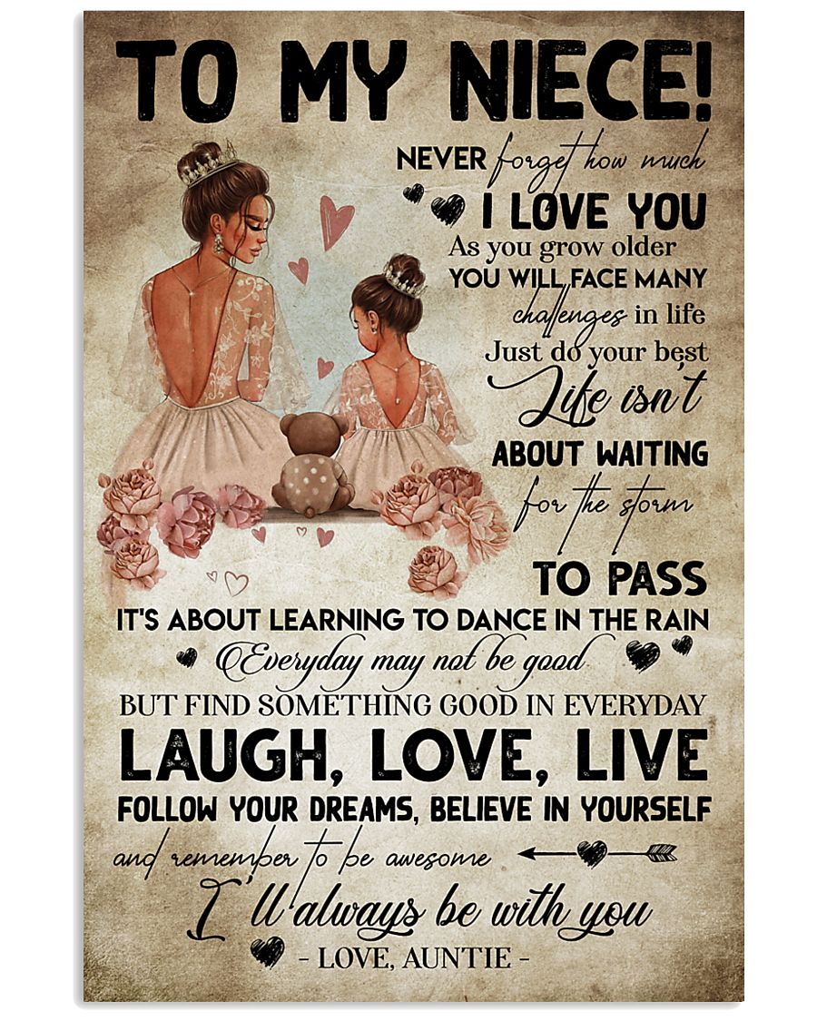 TO MY NIECE - AUNTIE - I'LL ALWAYS BE WITH YOU 16x24 Poster