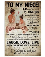 TO MY NIECE - AUNTIE - I'LL ALWAYS BE WITH YOU 16x24 Poster front