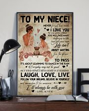 TO MY NIECE - AUNTIE - I'LL ALWAYS BE WITH YOU 16x24 Poster lifestyle-poster-2