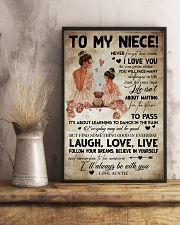 TO MY NIECE - AUNTIE - I'LL ALWAYS BE WITH YOU 16x24 Poster lifestyle-poster-3