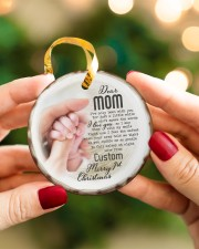 To My Mom - Personalized Circle ornament - single (porcelain) aos-circle-ornament-single-porcelain-lifestyles-08