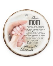 To My Mom - Personalized Circle ornament - single (porcelain) front