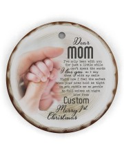 To My Mom - Personalized Circle ornament - single (wood) thumbnail