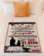 """TO MY DAD - FISHING Small Fleece Blanket - 30"""" x 40"""" aos-coral-fleece-blanket-30x40-lifestyle-front-04"""