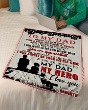 """TO MY DAD - FISHING Small Fleece Blanket - 30"""" x 40"""" aos-coral-fleece-blanket-30x40-lifestyle-front-07"""