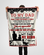 """TO MY DAD - FISHING Small Fleece Blanket - 30"""" x 40"""" aos-coral-fleece-blanket-30x40-lifestyle-front-14"""