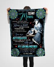 """To My Mom - Fleece Blanket Small Fleece Blanket - 30"""" x 40"""" aos-coral-fleece-blanket-30x40-lifestyle-front-14"""