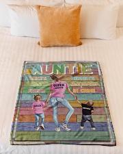 "Auntie - Best Friend Best Partner-in-crime Small Fleece Blanket - 30"" x 40"" aos-coral-fleece-blanket-30x40-lifestyle-front-04"