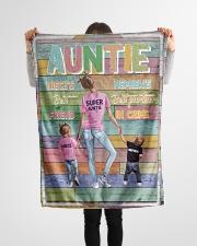 "Auntie - Best Friend Best Partner-in-crime Small Fleece Blanket - 30"" x 40"" aos-coral-fleece-blanket-30x40-lifestyle-front-14"