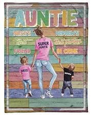 """Auntie - Best Friend Best Partner-in-crime Small Fleece Blanket - 30"""" x 40"""" front"""