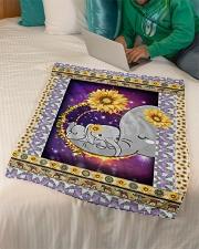 "FLEECE BLANKET - CHILDREN - MOTHER - ELEPHANT Small Fleece Blanket - 30"" x 40"" aos-coral-fleece-blanket-30x40-lifestyle-front-07"