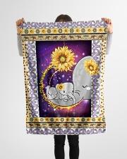 "FLEECE BLANKET - CHILDREN - MOTHER - ELEPHANT Small Fleece Blanket - 30"" x 40"" aos-coral-fleece-blanket-30x40-lifestyle-front-14"