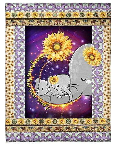 FLEECE BLANKET - CHILDREN - MOTHER - ELEPHANT