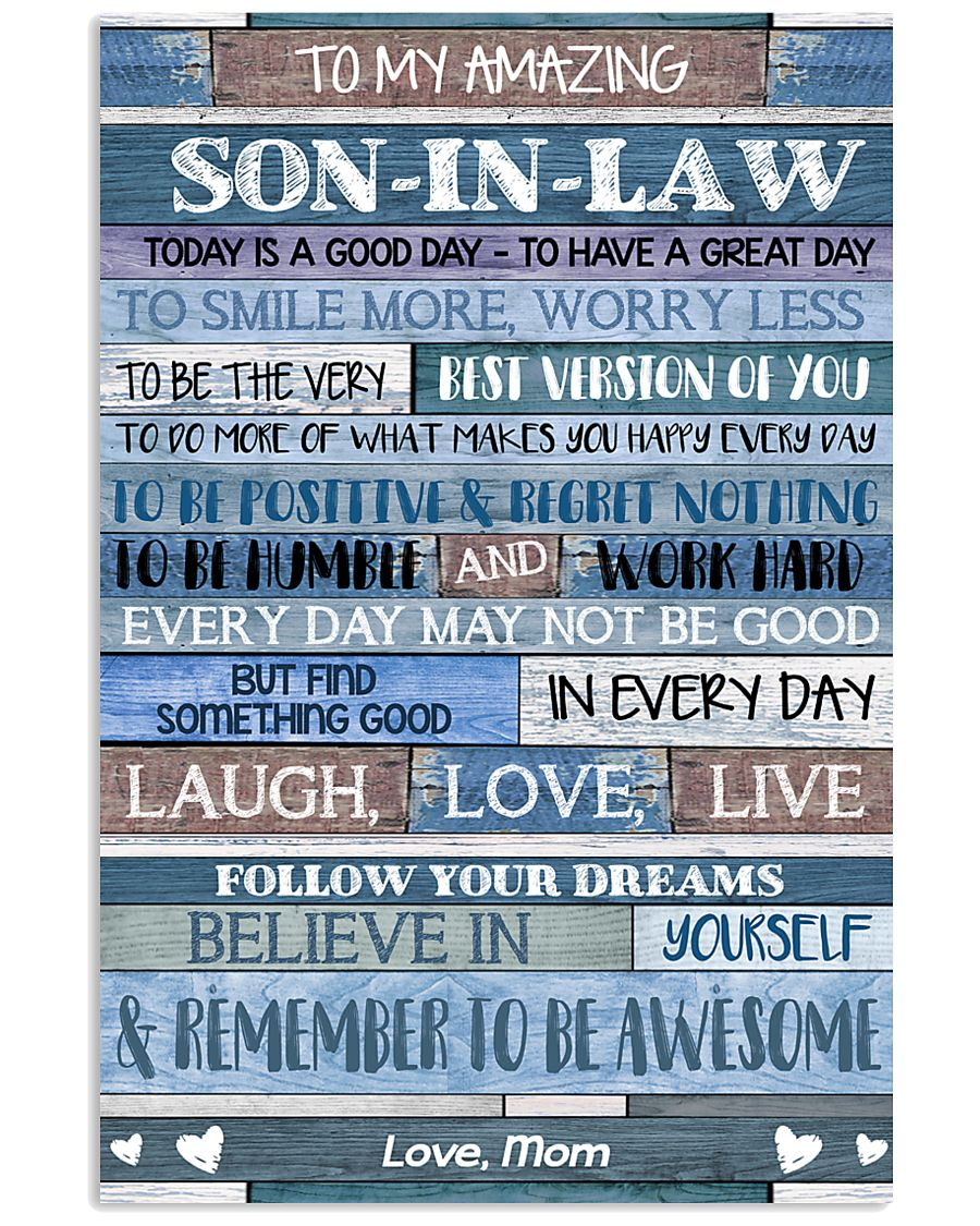 MOM TO SON IN LAW 16x24 Poster