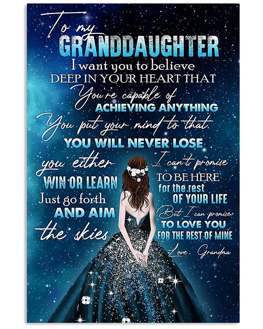 GRANDDAUGHTER - GIRLS - YOU WILL NEVER LOSE 16x24 Poster
