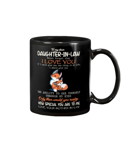 MUG - TO MY DAUGHTER-IN-LAW - FOX - I LOVE YOU