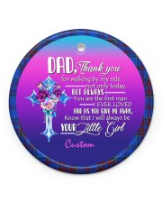 To Father of the Bride - Wedding - Personalized Circle ornament - single (porcelain) front