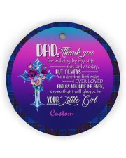 To Father of the Bride - Wedding - Personalized Circle ornament - single (wood) thumbnail