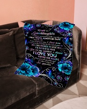"""Grandma to Granddaughter - You Are My Sunshine  Small Fleece Blanket - 30"""" x 40"""" aos-coral-fleece-blanket-30x40-lifestyle-front-05"""